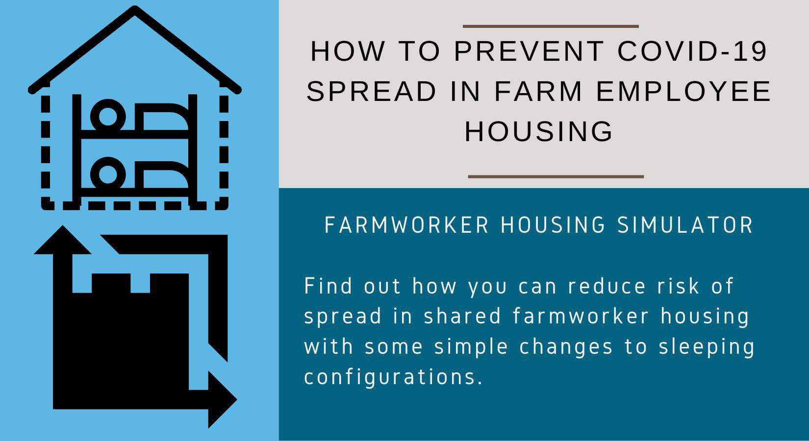 Prevent Spread: Interactive Farmworker Housing Simulator